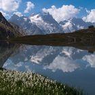 Lac du Goléon et massif de la Meije