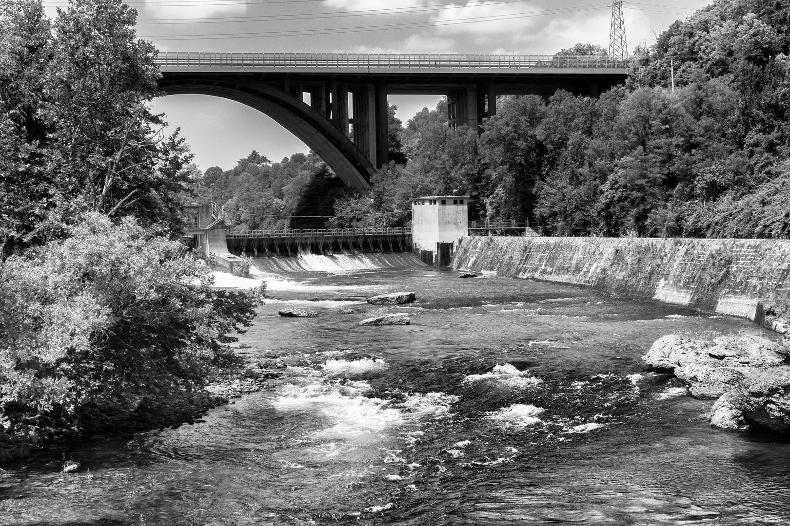 L'Adda dal ponte della centrale