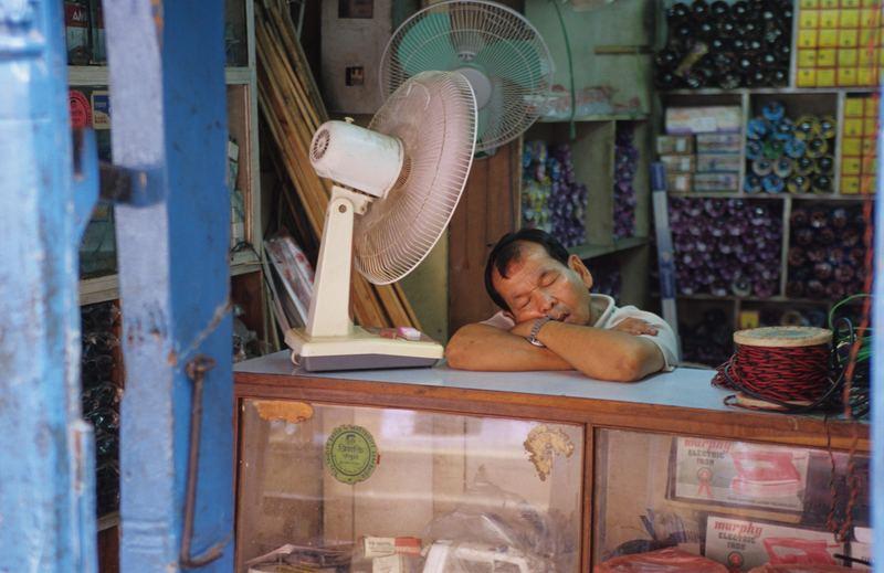 Ladenbesitzer in Kathmandu