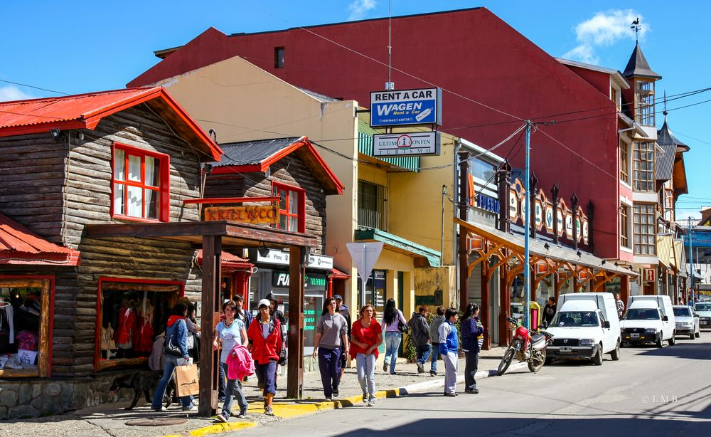 Ladenstraße in Ushuaia