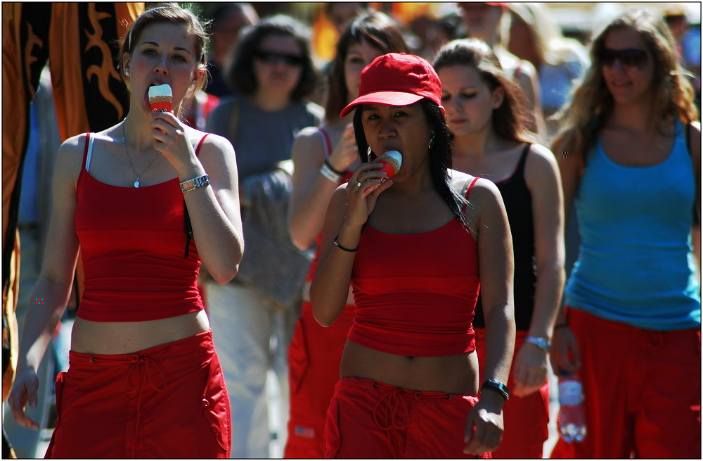 ... Ladies in Red ...