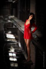 Lady in red .............