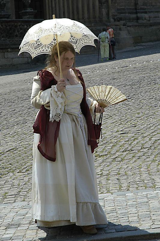 Lady mit Schirm
