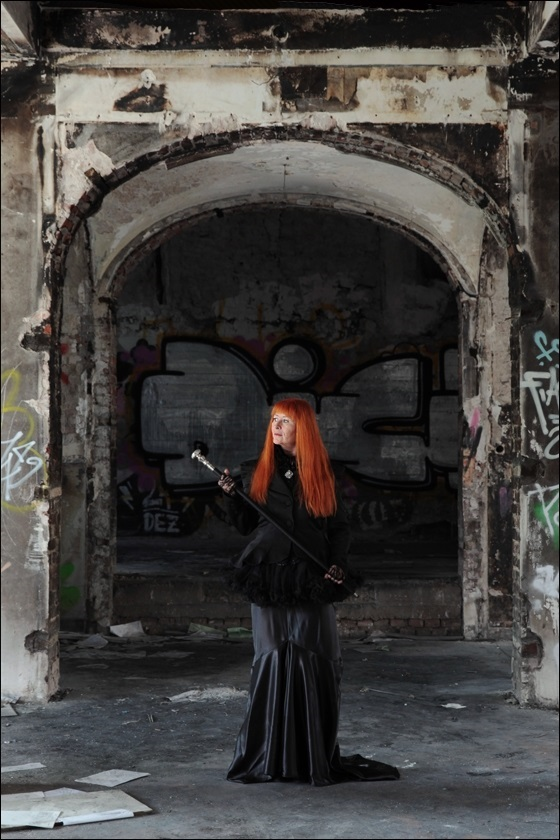 lady with ORANGE hair