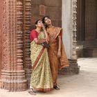 Ladys amazing at the qutb minar