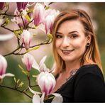 Lächeln an Magnolien