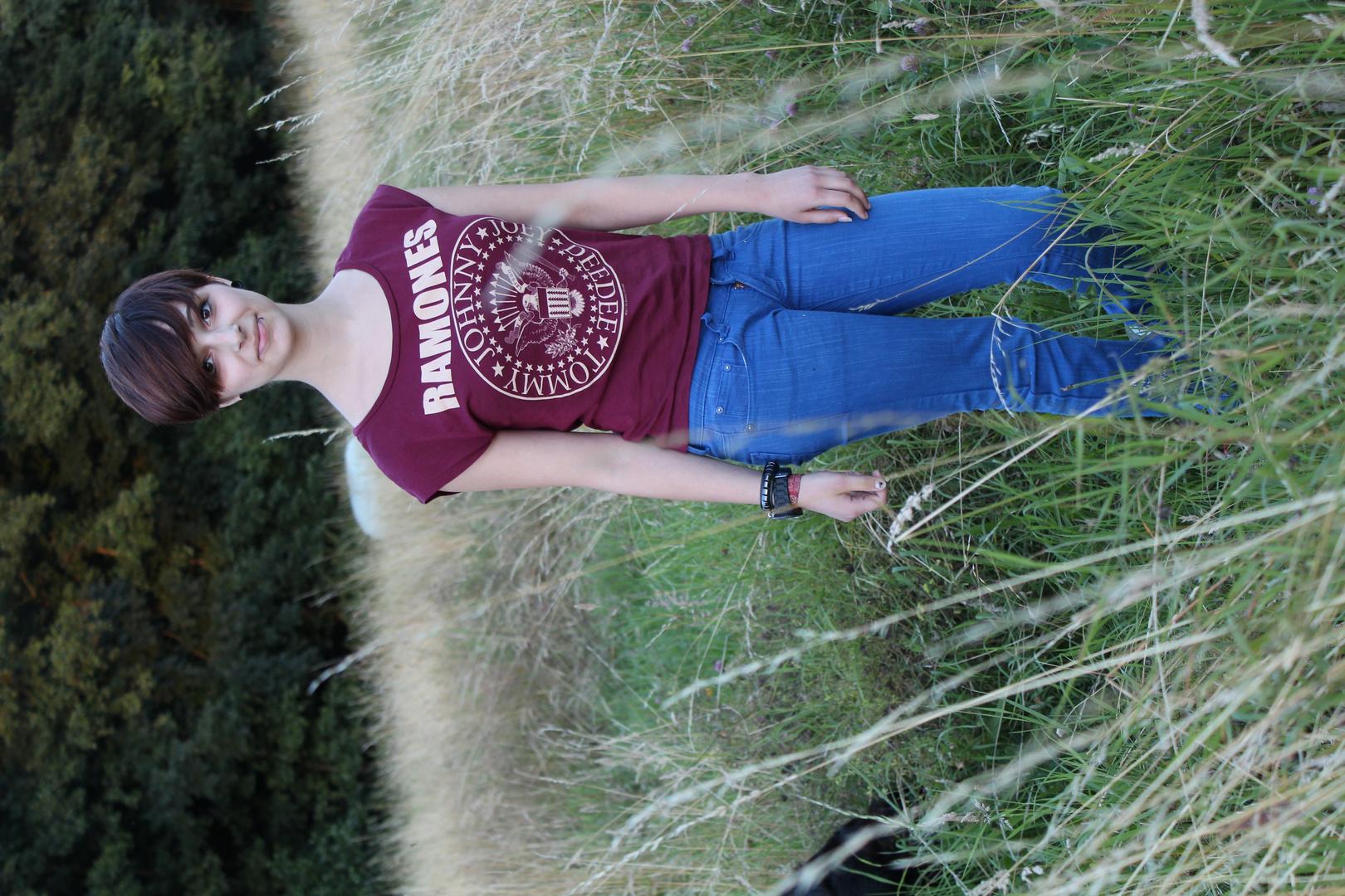 Lächeln im Feld