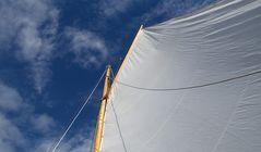 Läugeli - Letztes Segeln - Gaffel hoch am Wind