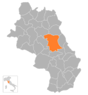 Lage der Stadt Asciano
