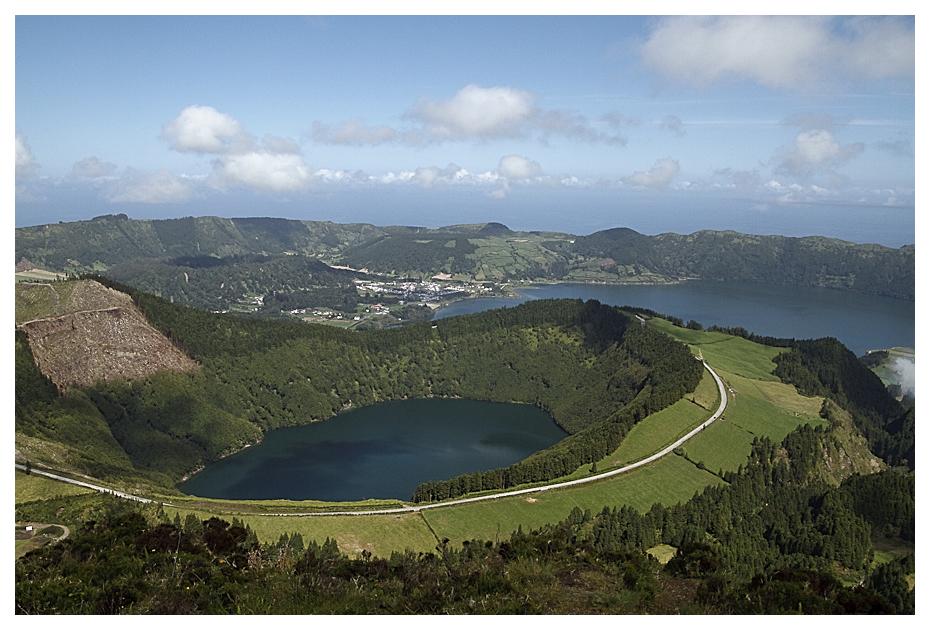 Lago de Santiago und Lagoa Azul