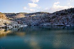 Lago delle Lastre invernale