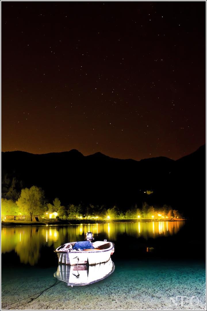 Lago di Ledro bei Nacht