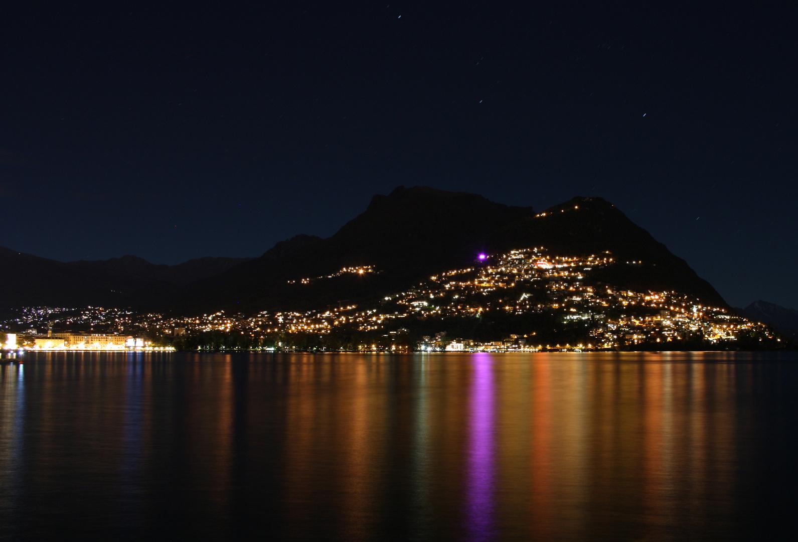 Lago di Lugano - Vista sul Monte Bré