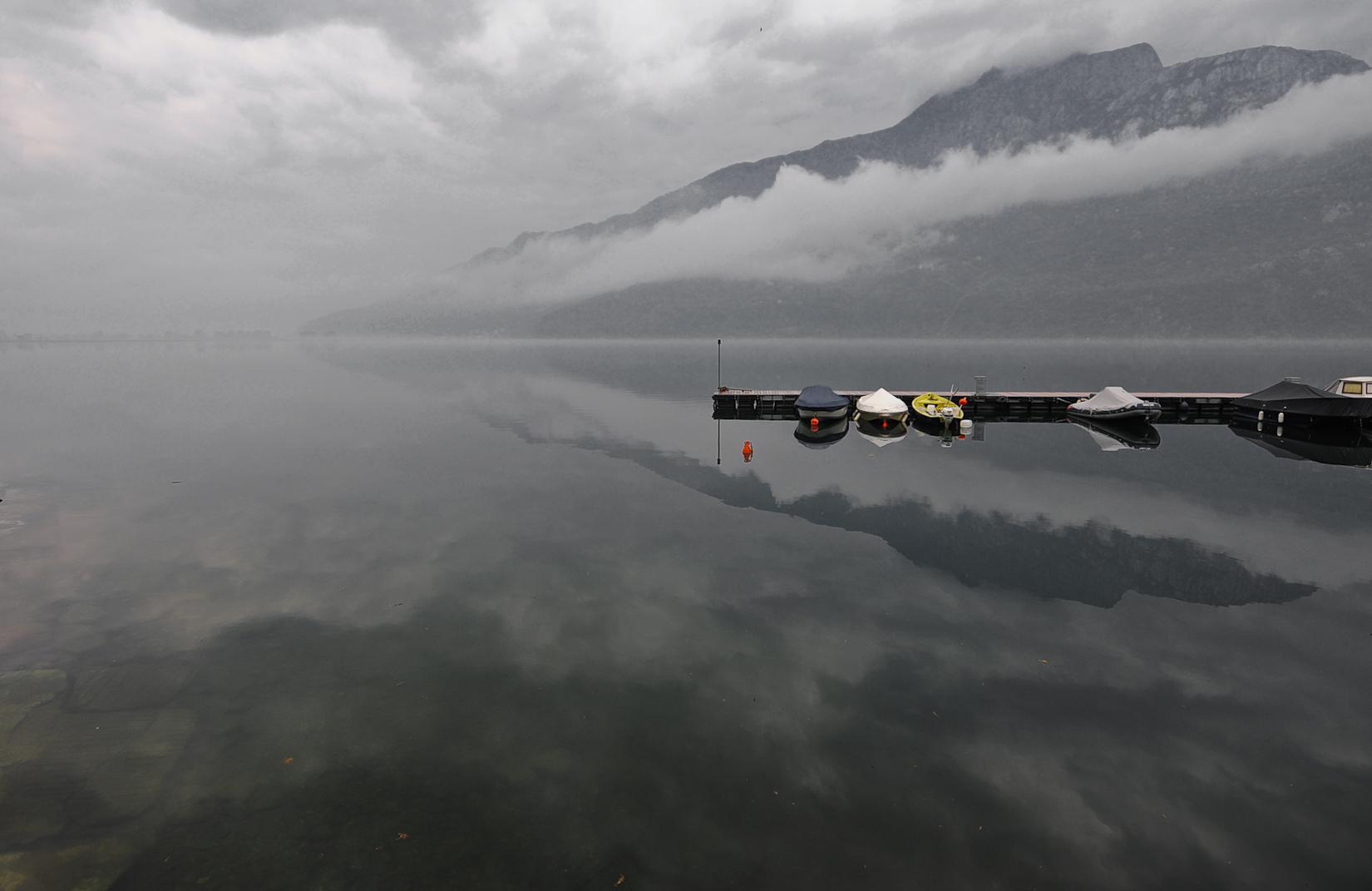 Lago di Mezzola dopo la pioggia
