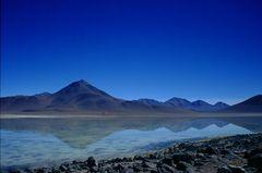 Laguna blanca in Bolivien