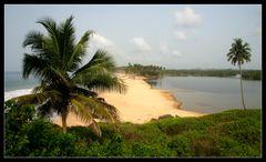 ... Lagune von Princess Town, Ghana ...
