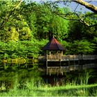 Lake and Gazebo on a Springtime Afternoon