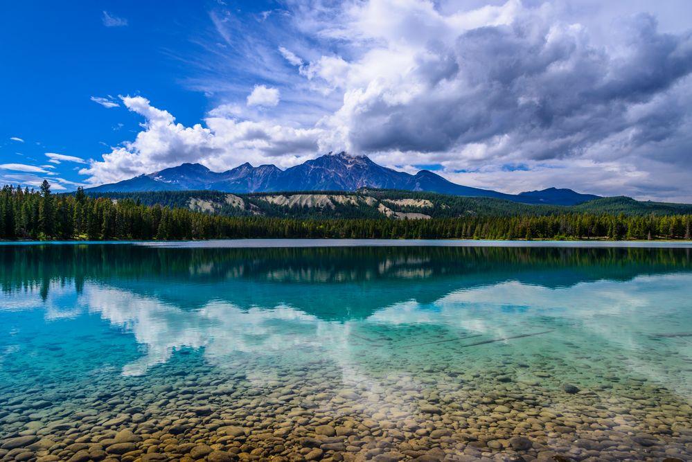 Lake Annette & Pyramid Mountain, Jasper NP, CA