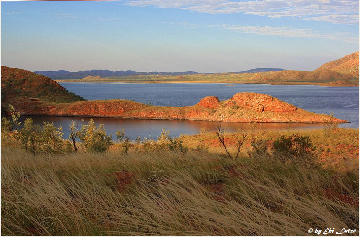 ** Lake Argyle Sunset seen from Bluff **