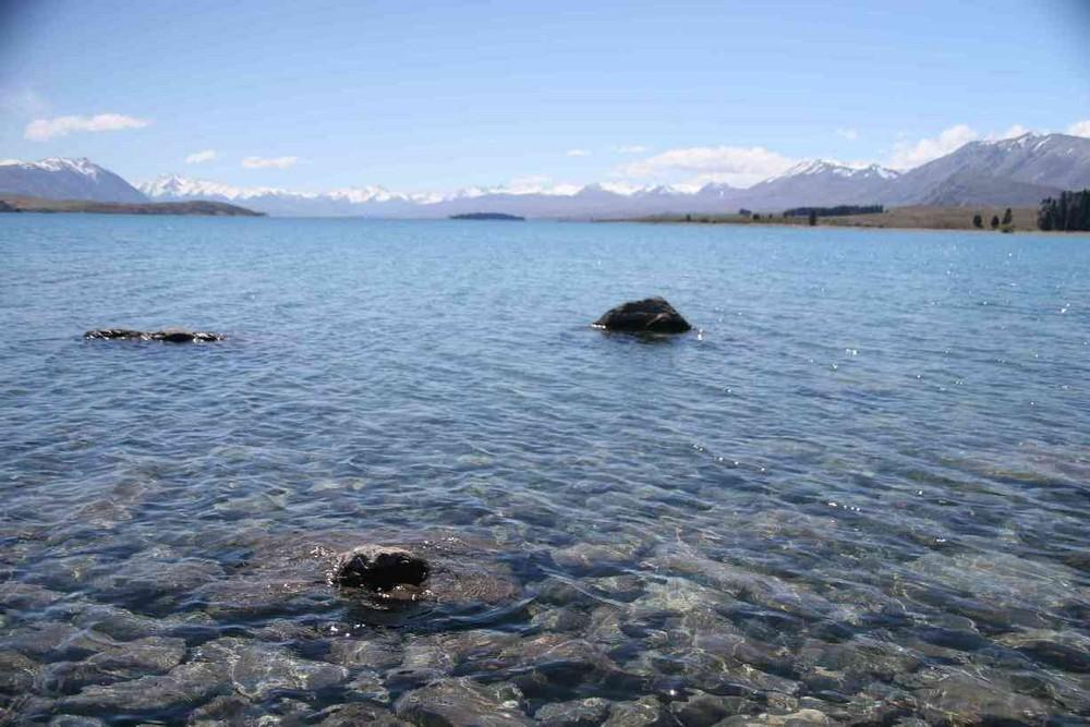 Lake glacier view