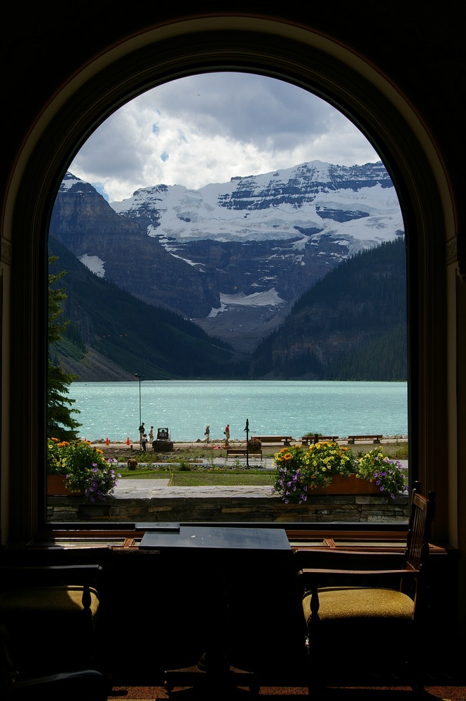 Lake Louise through Window