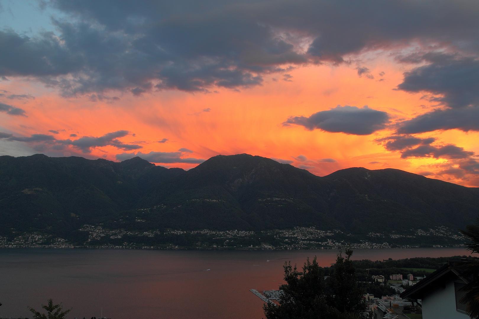 Lake Maggiore in the evening