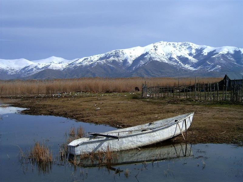 Lake presepes at the island of St. Achilleas
