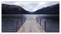 Lake Rotoiti an einem wolkenverhangenen Tag