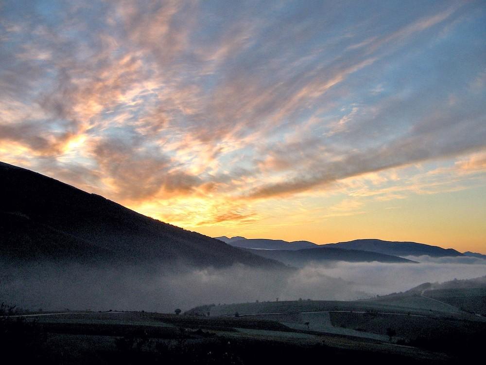 l'alba dell'appennino