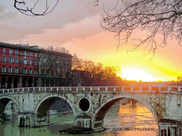 """l'alba di P.te sisto """"ROMA"""""""