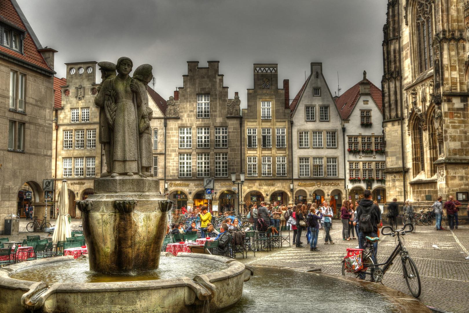 Lambertibrunnen in Münster