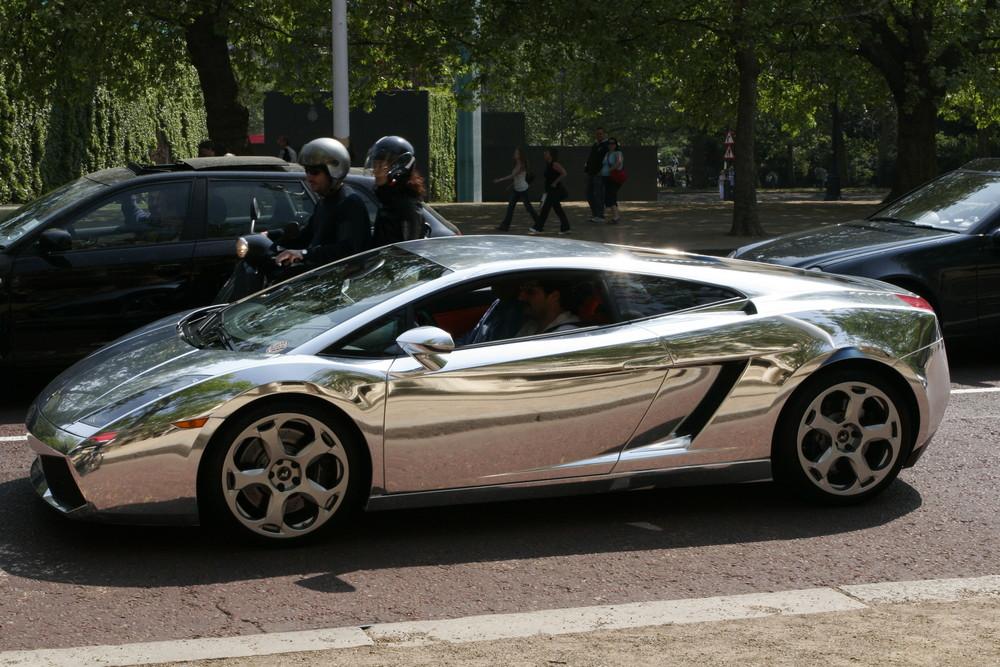 Lamborghini in Platin