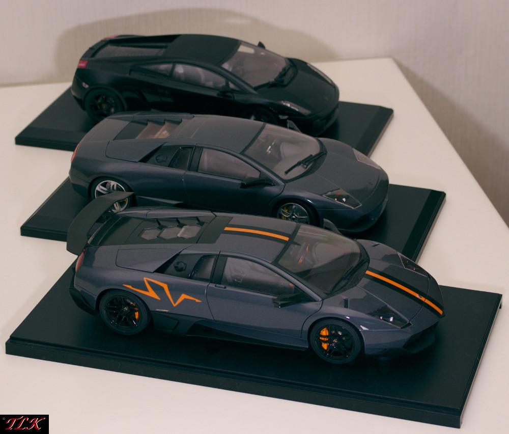 Lamborghini Modelle 1:18 Arr. 01: Murcielago LP670SV, Murcielago LP640, Gallardo Nera