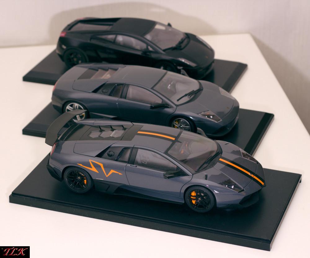 Lamborghini Modelle 1:18 Arr. 02: Murcielago LP670SV, Murcielago LP640, Gallardo Nera