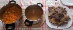 Lammkeule und Süßkartoffel