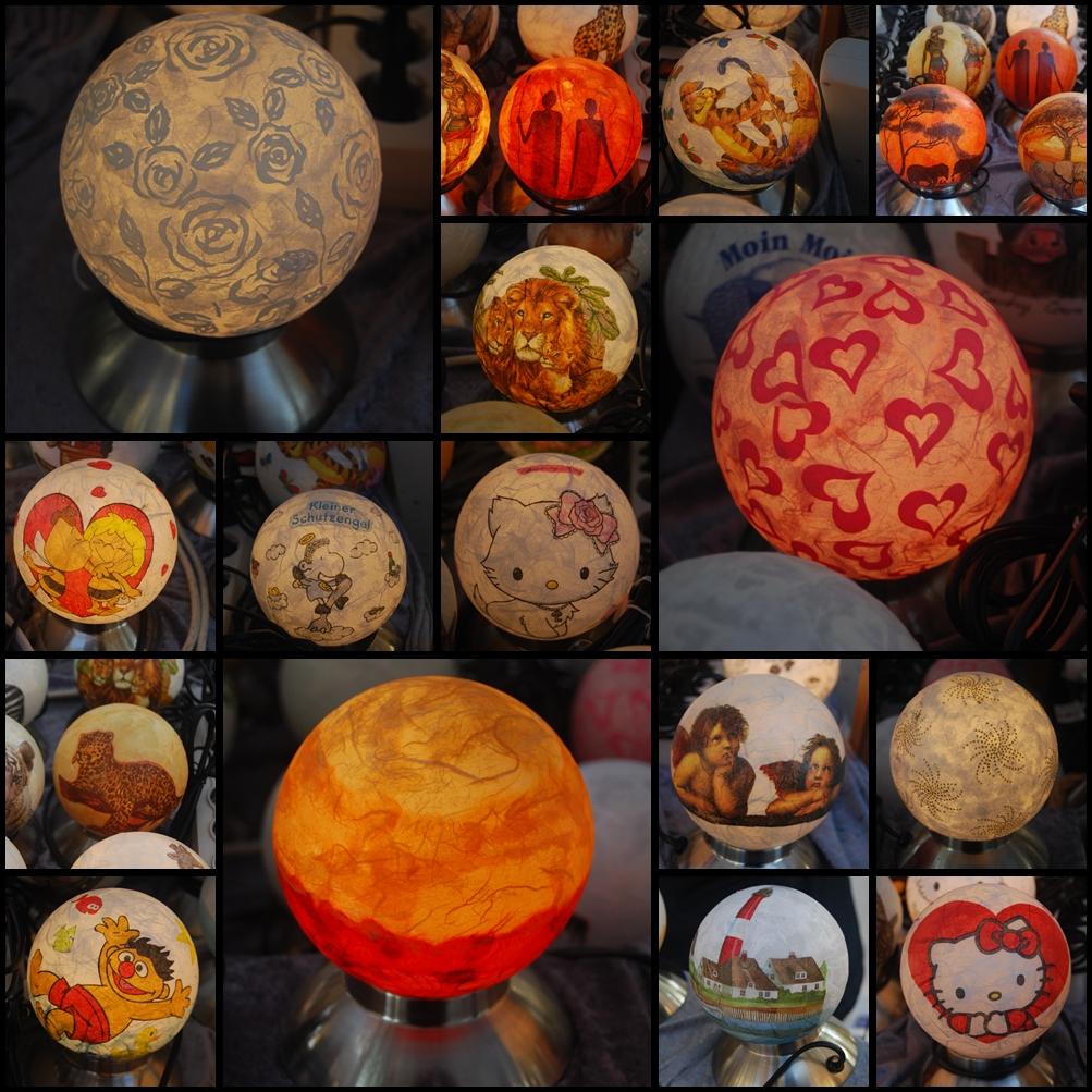 lampen auf dem kunsthandwerkermarkt