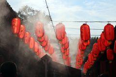 Lampions auf einem Markt in Xi'an