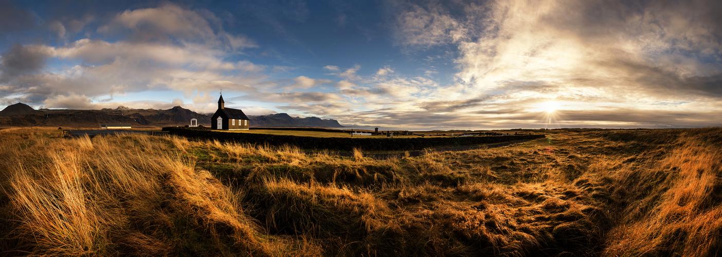 [ ... land of Búðir - sunset panorama ]