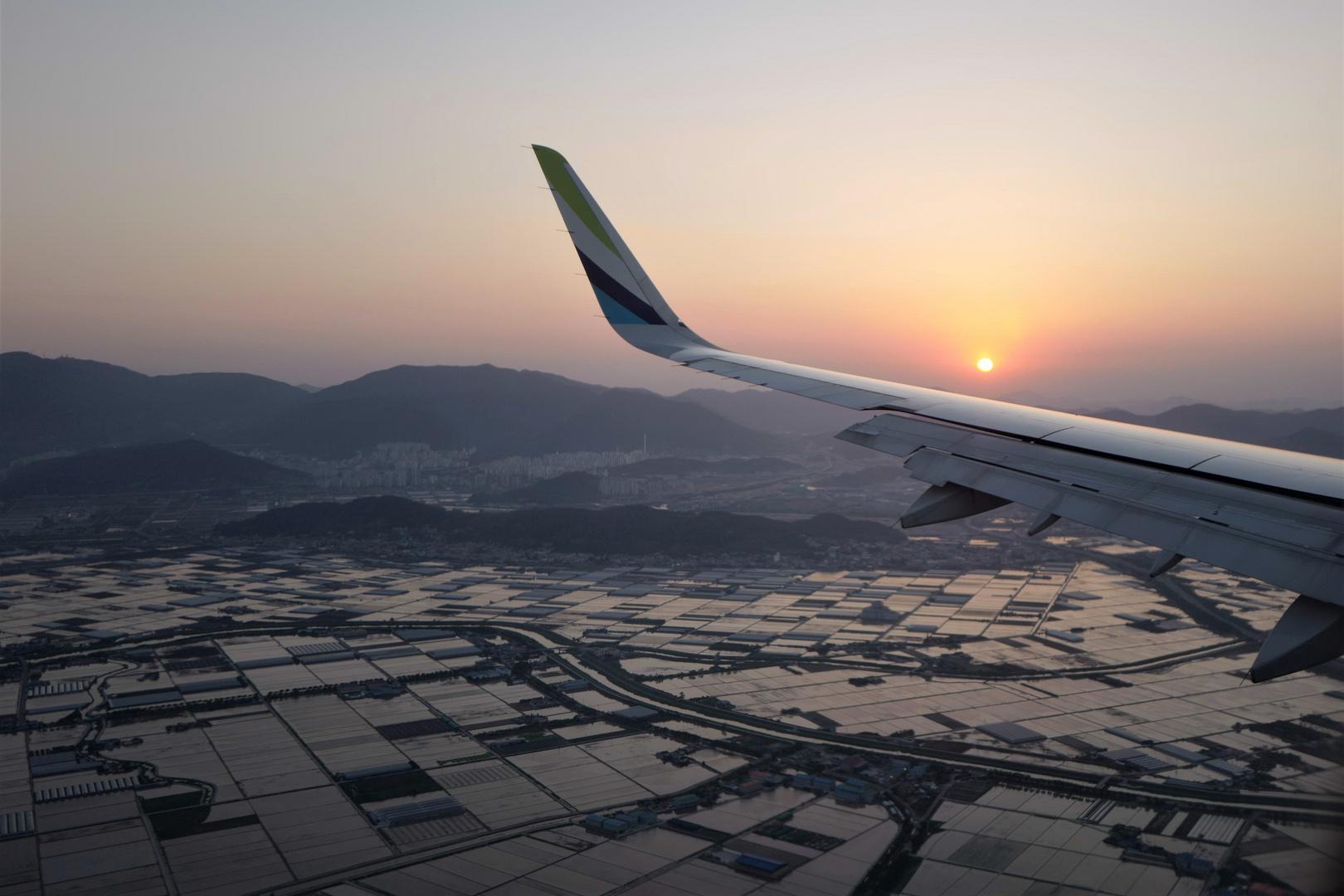 Landeanflug auf Busan