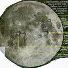 Landepunkte Mission Apollo zum Mond
