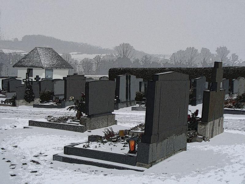 Landfriedhof im Winter