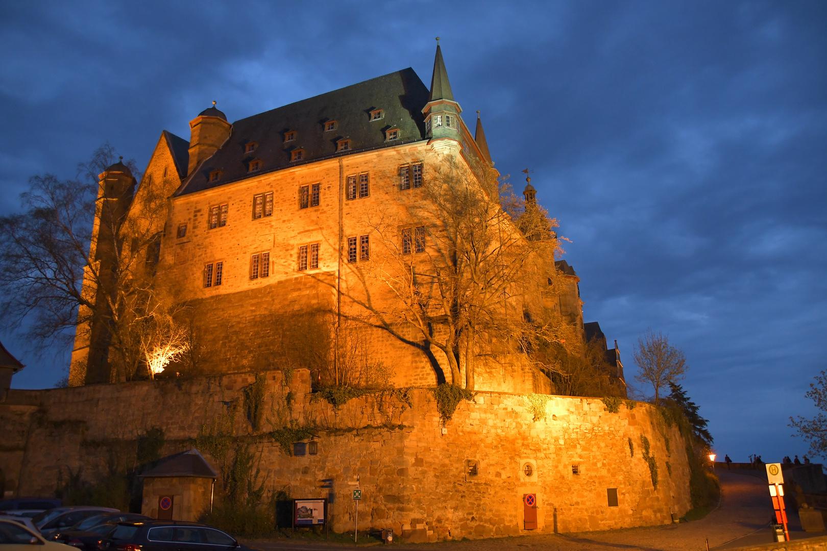 Landgrafenschloss Marburg am Abend