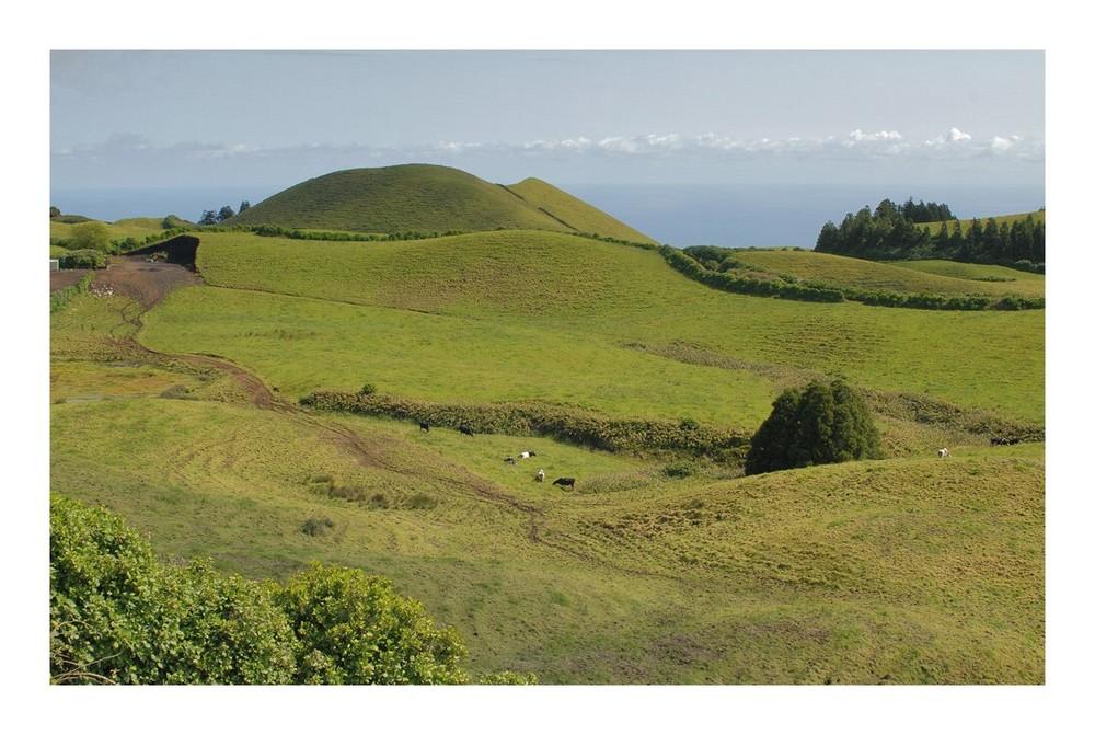 Landschaft auf den Azoren.