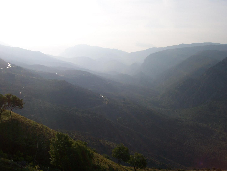 Landschaft bei Delphi
