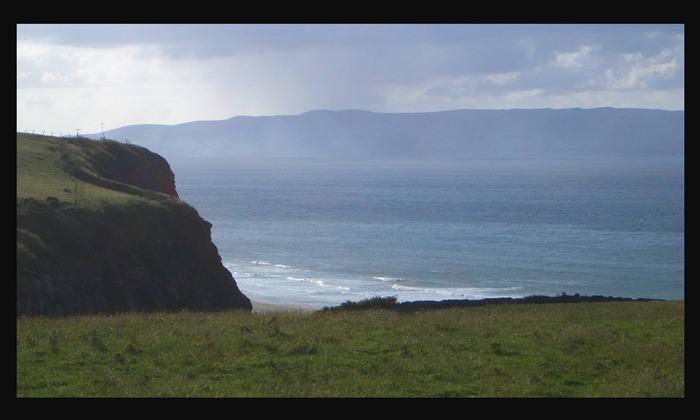 Landschaft bei Downhill