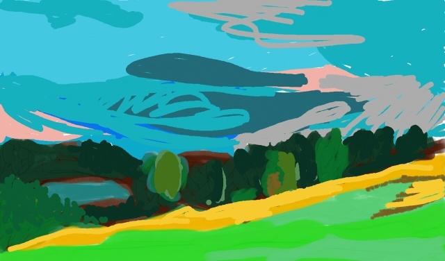 Landschaft im 'Bergischen', Herbst