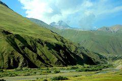 Landschaft im Kaukasus in Georgien