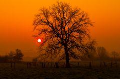 Landschaft im Sonnenaufgang