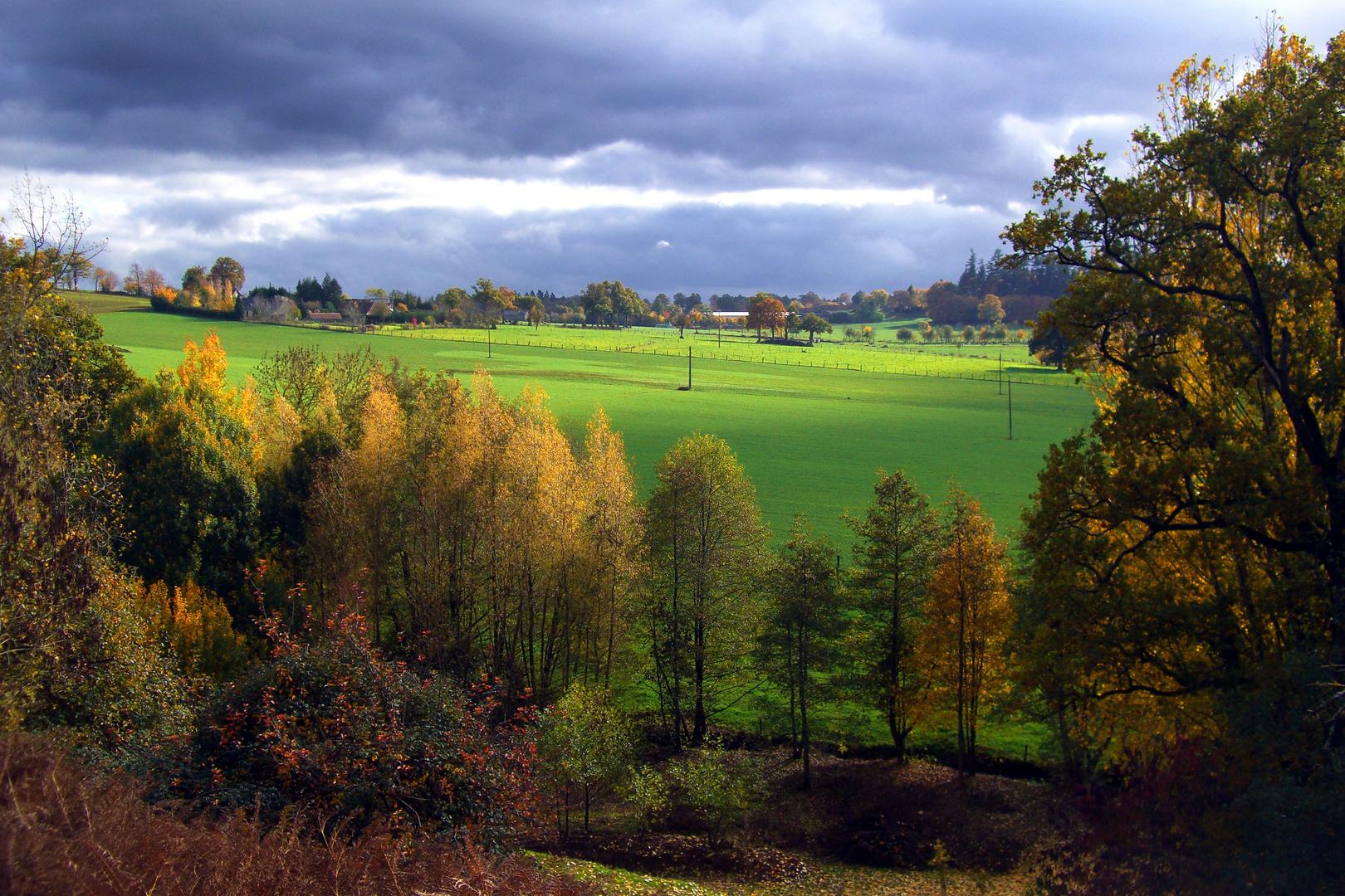Landschaft in der Basse-Normandie / Frankreich