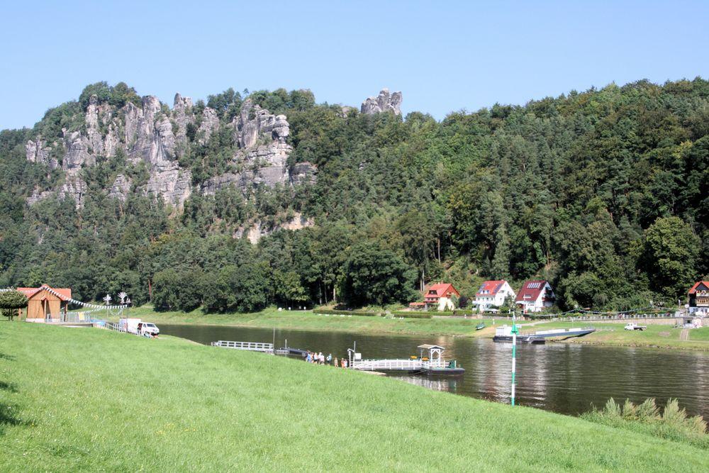 Landschaft in Rathen/Sachsen